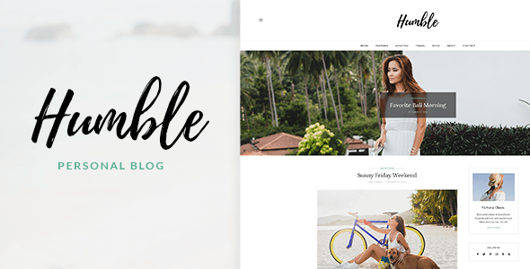 Humble - Modern Personal WordPress Template