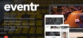Eventr – One Page Event Template
