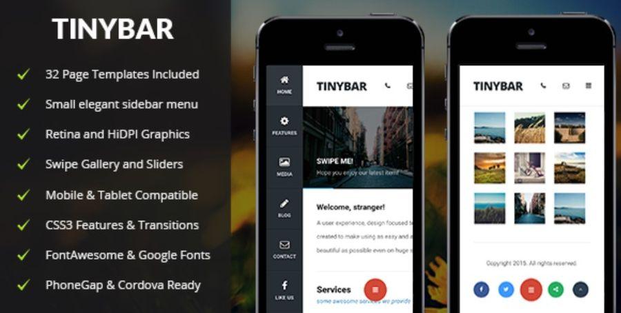 Tinybar Mobile - Mobile Template