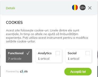 Widget Cookies si GDPR
