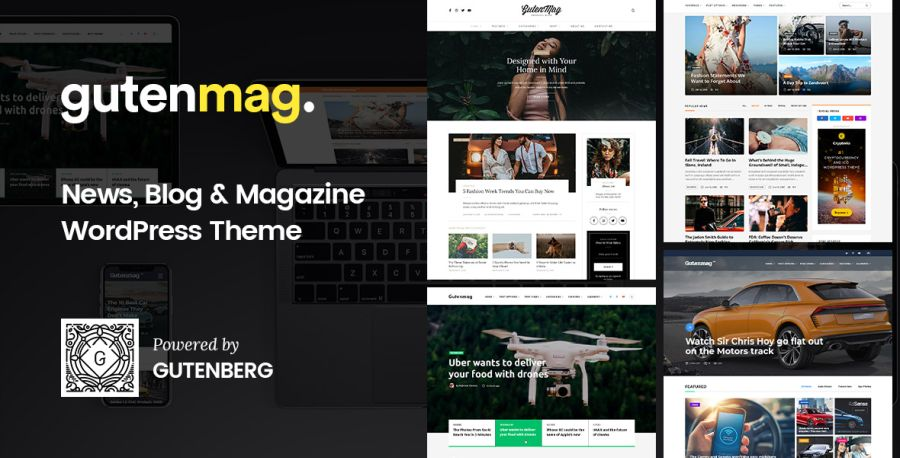GutenMag - WordPress Theme for Magazine and Blog
